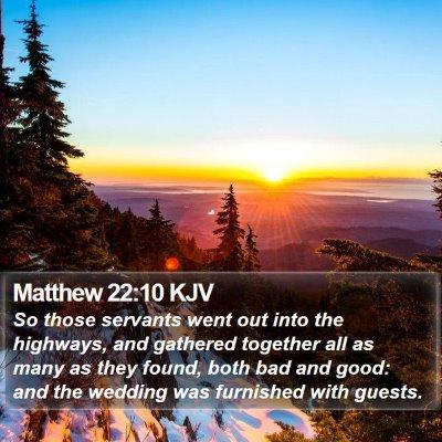 Matthew 22:10 KJV Bible Verse Image