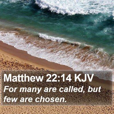 Matthew 22:14 KJV Bible Verse Image