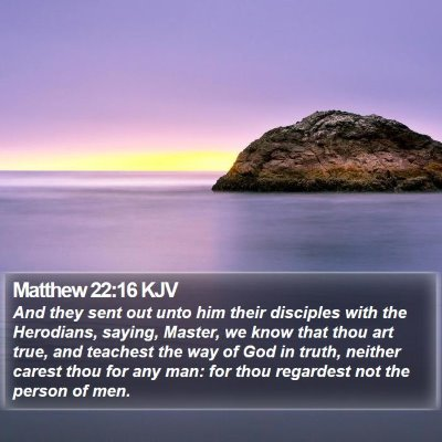 Matthew 22:16 KJV Bible Verse Image