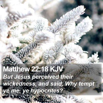Matthew 22:18 KJV Bible Verse Image