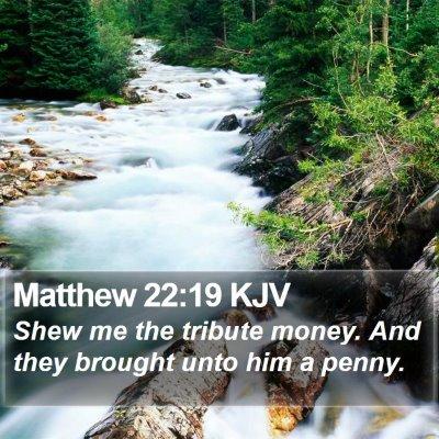 Matthew 22:19 KJV Bible Verse Image