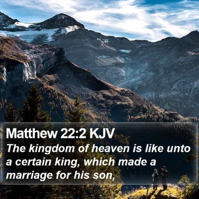 Matthew 22:2 KJV Bible Verse Image