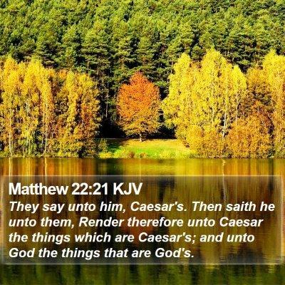 Matthew 22:21 KJV Bible Verse Image
