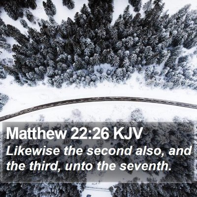Matthew 22:26 KJV Bible Verse Image
