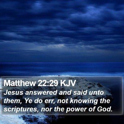 Matthew 22:29 KJV Bible Verse Image