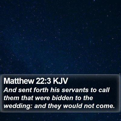 Matthew 22:3 KJV Bible Verse Image