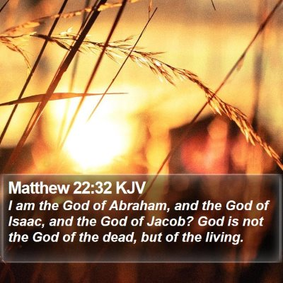 Matthew 22:32 KJV Bible Verse Image