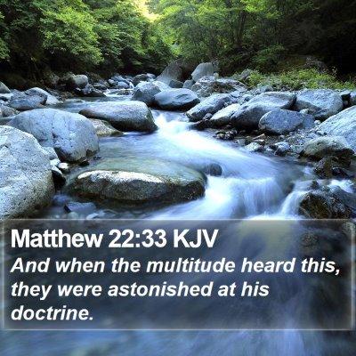 Matthew 22:33 KJV Bible Verse Image