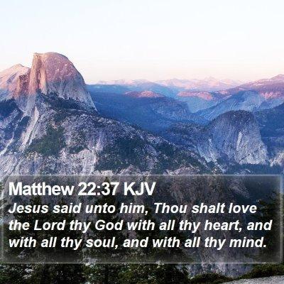 Matthew 22:37 KJV Bible Verse Image