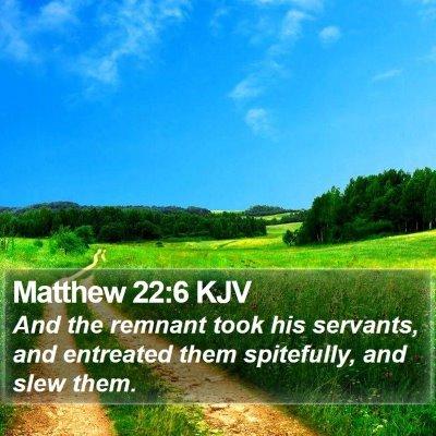 Matthew 22:6 KJV Bible Verse Image