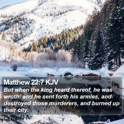 Matthew 22:7 KJV Bible Verse Image