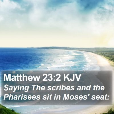 Matthew 23:2 KJV Bible Verse Image