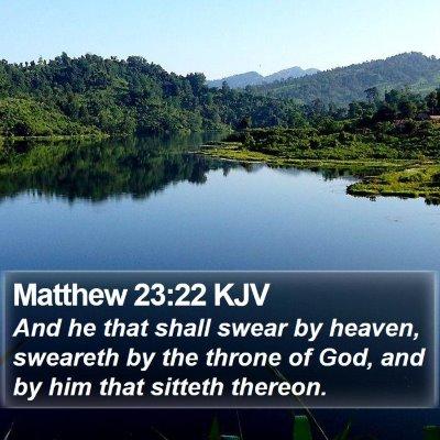 Matthew 23:22 KJV Bible Verse Image