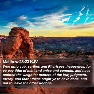Matthew 23:23 KJV Bible Verse Image