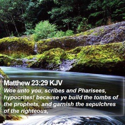 Matthew 23:29 KJV Bible Verse Image