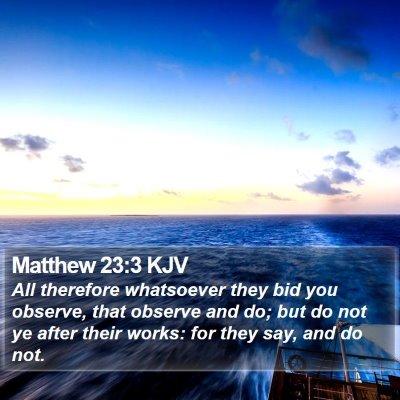 Matthew 23:3 KJV Bible Verse Image