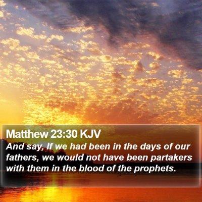 Matthew 23:30 KJV Bible Verse Image