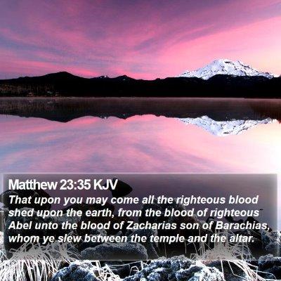 Matthew 23:35 KJV Bible Verse Image