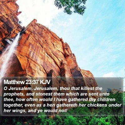 Matthew 23:37 KJV Bible Verse Image