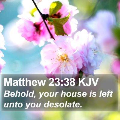 Matthew 23:38 KJV Bible Verse Image