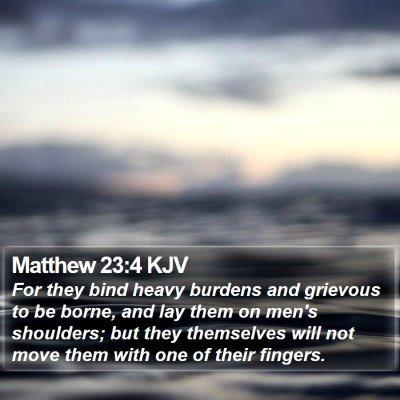 Matthew 23:4 KJV Bible Verse Image
