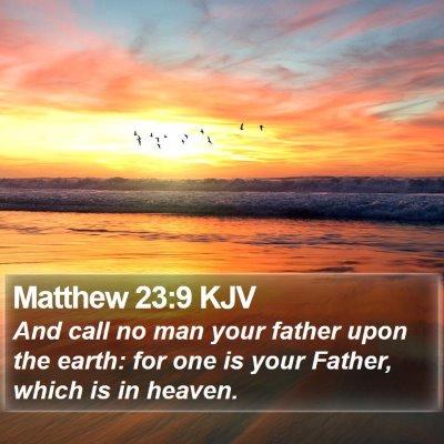 Matthew 23:9 KJV Bible Verse Image