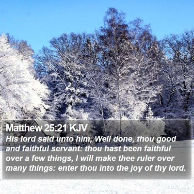 Matthew 25:21 KJV Bible Verse Image