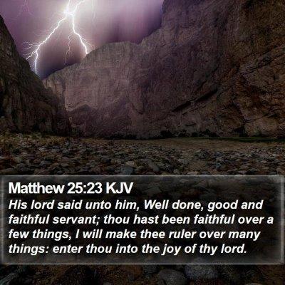 Matthew 25:23 KJV Bible Verse Image