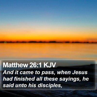 Matthew 26:1 KJV Bible Verse Image