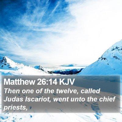 Matthew 26:14 KJV Bible Verse Image