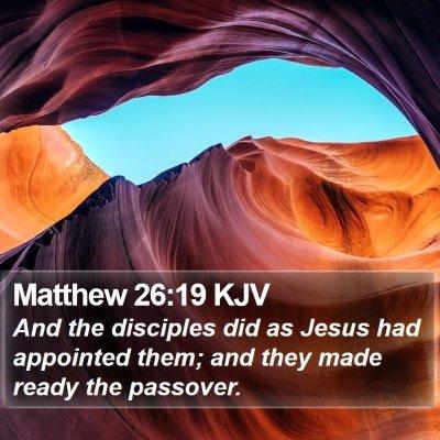 Matthew 26:19 KJV Bible Verse Image