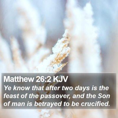 Matthew 26:2 KJV Bible Verse Image