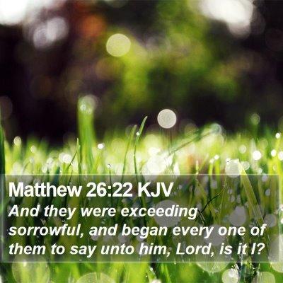 Matthew 26:22 KJV Bible Verse Image