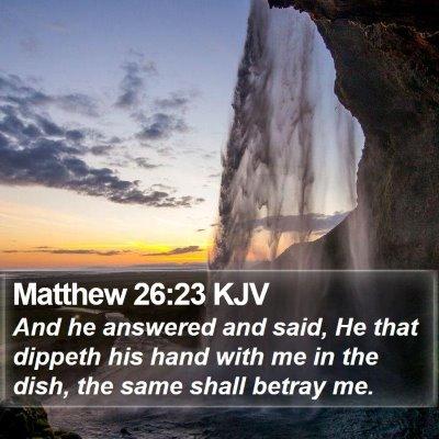 Matthew 26:23 KJV Bible Verse Image