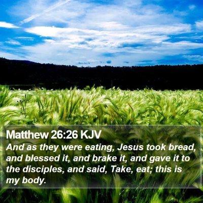 Matthew 26:26 KJV Bible Verse Image