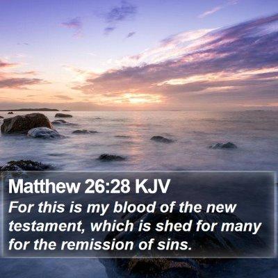 Matthew 26:28 KJV Bible Verse Image