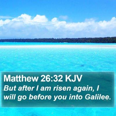 Matthew 26:32 KJV Bible Verse Image