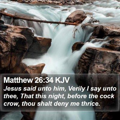 Matthew 26:34 KJV Bible Verse Image
