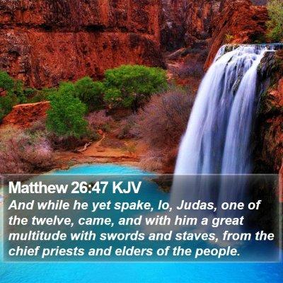 Matthew 26:47 KJV Bible Verse Image
