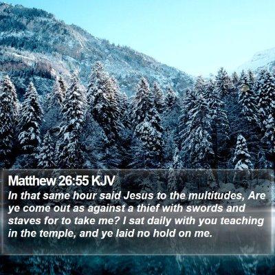 Matthew 26:55 KJV Bible Verse Image
