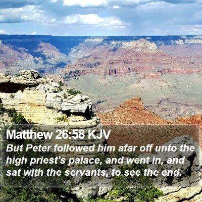 Matthew 26:58 KJV Bible Verse Image