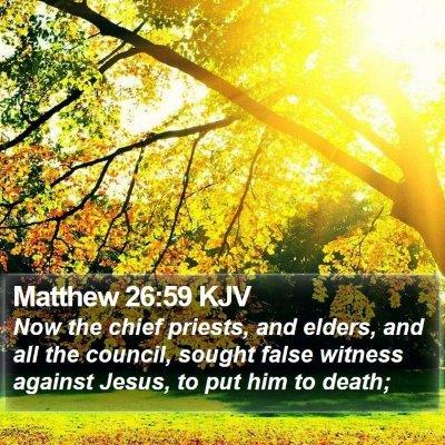 Matthew 26:59 KJV Bible Verse Image