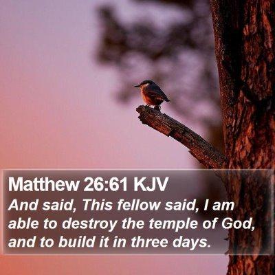 Matthew 26:61 KJV Bible Verse Image
