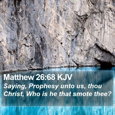 Matthew 26:68 KJV Bible Verse Image