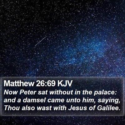 Matthew 26:69 KJV Bible Verse Image
