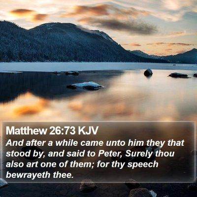 Matthew 26:73 KJV Bible Verse Image