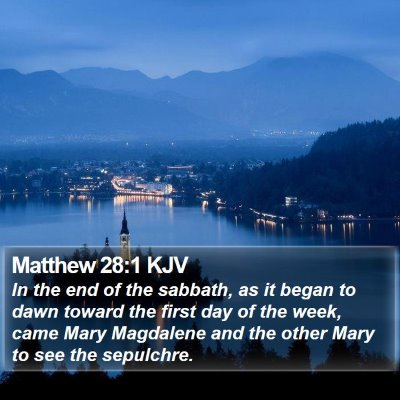 Matthew 28:1 KJV Bible Verse Image