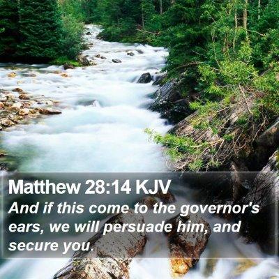 Matthew 28:14 KJV Bible Verse Image