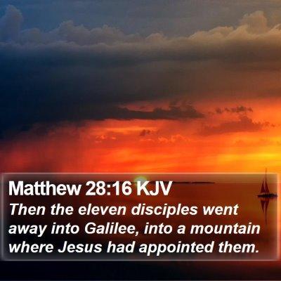 Matthew 28:16 KJV Bible Verse Image