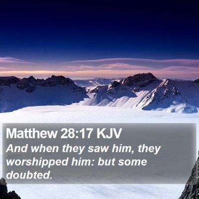 Matthew 28:17 KJV Bible Verse Image